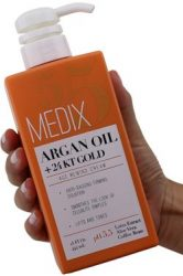 Medix 5.5 Argan Oil Cream with 24kt Gold. Anti-sagging firming cream to reduce the look wrinkles, cellulite, and blemishes. 15oz (15oz)