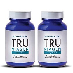 TRU NIAGEN Nicotinamide Riboside – Patented NAD Booster for Cellular Repair & Energy, 150mg Vegetarian Capsules, 300mg Per Serving, 30 Day Bottle (Pack of 2)