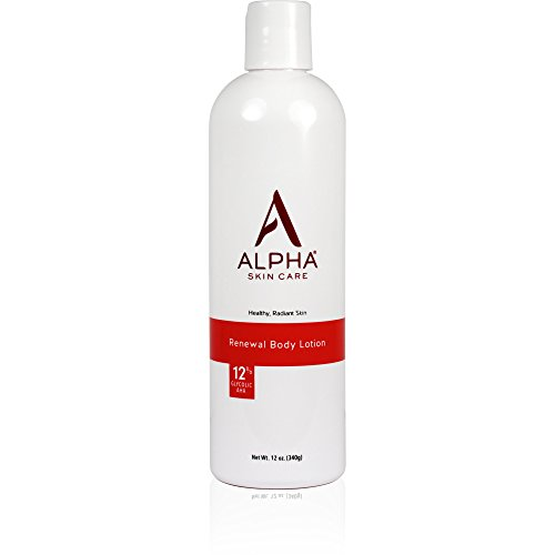 Alpha Skin Care – Renewal Body Lotion, 12% Glycolic AHA, Supports Healthy Radiant Skin| Fragrance-Free and Paraben-Free| 12-Ounce