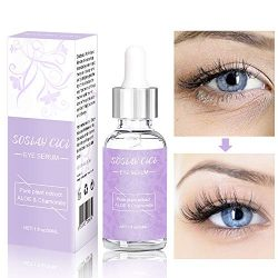 Under Eye Serum, Eye Wrinkle Serum for Dark Circles & Puffiness, Reduce Eye Bags, Crow's Feet, Fine Lines, Dark Circles Under Eye Treatment Organic Coffee Anti-Aging Eye Firming Serum 1fl oz