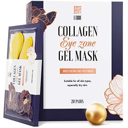 Under Eye Patches – 24K Gold Under Eye Mask Anti-Aging Hyaluronic Acid Collagen Under Eye Pads Reducing Dark Circles & Wrinkles Treatment Gel Bags