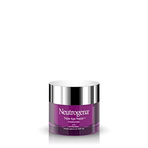 Neutrogena Triple Age Repair Anti-Aging Face Moisturizer with SPF 25 Sunscreen & Vitamin C, Dark Spot Remover & Firming Face & Neck Cream with Glycerin & Shea Butter, 1.7 oz
