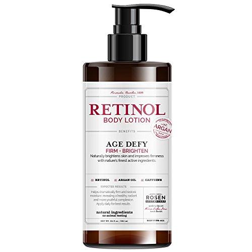 Rosen Apothecary Anti-Aging Retinol Body Lotion – Age Defy – Body Firms & brightens 32oz / 960ml
