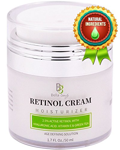 Retinol Moisturizer Anti Aging Cream for Face and Eye Area – With Hyaluronic Acid – 2.5% Active Retinol – Vitamin E – Reduce Appearance of Wrinkles and Fine lines – Best Day and Night Face Cream