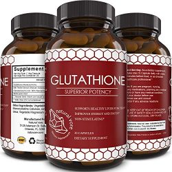 Best Glutathione Supplement – Natural Skin Whitening Anti-Aging Benefits Reduced L-Glutathione Pills for Men & Women – Pure Antioxidant Milk Thistle Extract Liver Health GSH Detox – Natural Vore