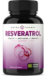 Resveratrol Supplement 1200mg – Extra Strength Formula for Maximum Anti Aging, Immune & Heart Health – 60 Vegan Capsules with Trans-Resveratrol, Green Tea Leaf, Acai Berry & Grape Seed Extract