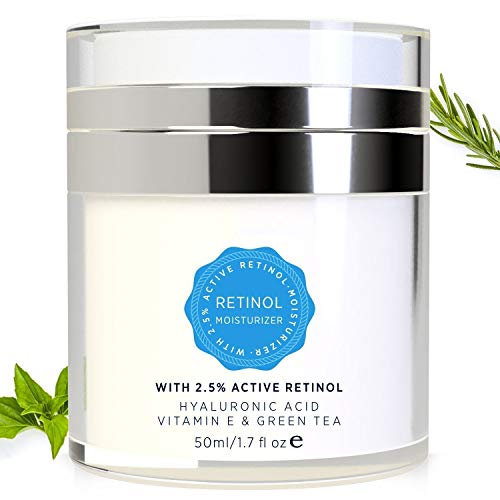 Essy Retinol Cream for Face and Eye Area – with Active Retinol, Hyaluronic Acid, Vitamin E and Green Tea, Anti Aging Formula Reduces Wrinkles, Night and Day Moisturizing Cream