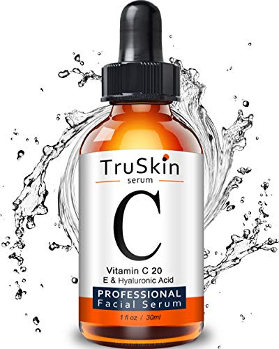TruSkin Vitamin C Serum for Face, Topical Facial Serum with Hyaluronic Acid, Vitamin E, 1 fl oz
