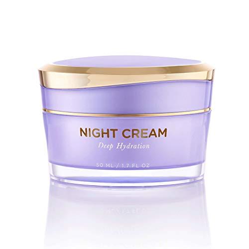 Overnight Miracle Glow Night Cream – Anti-Aging Retinol, Moisturizing Hyaluronic Acid, Jojoba Oil & Squalane Help Hyperpigmentation, Oil and Acne-Prone Skin. Vegan And Clean Skin Care.