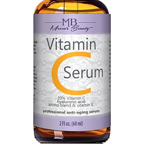 DOUBLE SIZED (2 oz) PURE VITAMIN C SERUM FOR FACE 20% With Hyaluronic Acid – Anti Wrinkle, Anti Aging, Dark Circles, Age Spots, Vitamin C, Pore Cleanser, Acne Scars, Organic Vegan Ingredients