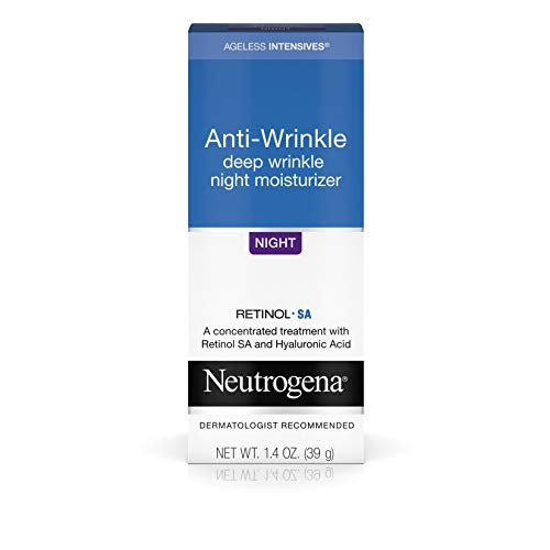 Neutrogena Ageless Intensives Anti Wrinkle Cream with Retinol and Hyaluronic Acid – Night Cream with Shea Butter, Vitamin E, Vitamin A, Glycerin, Hyaluronic Acid, 1.4 oz