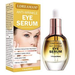 Eye Serum,Under Eye Cream,Anti Wrinkle Eye Serum,Anti Ageing Eye Serum,Hydrating Eye Serum,For Dark Circles, Puffiness – Reduces Wrinkles, Bags, Saggy Skin & Puffy Eyes Great Eye Treatment