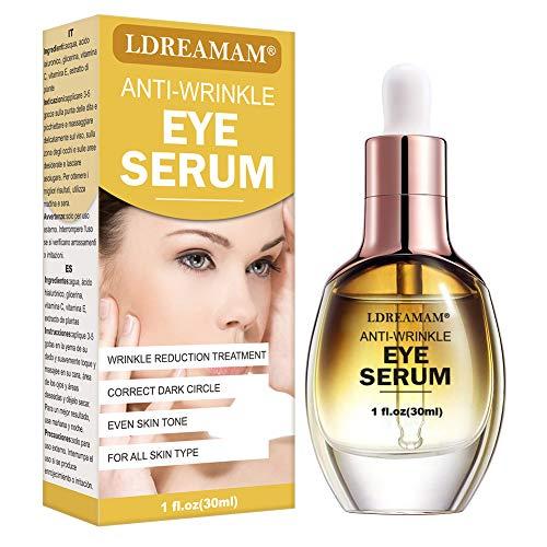 Eye Serum,Under Eye Cream,Anti Wrinkle Eye Serum,Anti Ageing Eye Serum,Hydrating Eye Serum,For Dark Circles, Puffiness – Reduces Wrinkles, Bags, Saggy Skin & Puffy Eyes Great Eye Treatment