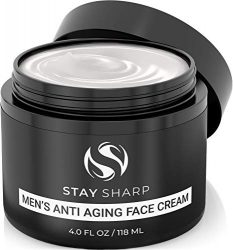 Anti Aging Face Cream For Men – Mens Face Moisturizer and Facial Lotion for Younger Looking Wrinkle Free Skin – 4oz