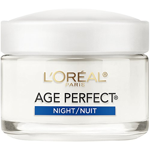 L'oréal Paris Skin Care Age Perfect Night Cream, Anti-Aging Face Moisturizer With Soy Seed Proteins, 2.5 Oz
