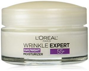 L'Oreal Paris Skincare Wrinkle Expert 55+ Anti-Aging Face Moisturizer with Calcium Non-Greasy Suitable for Sensitive Skin 1.7 fl. oz.