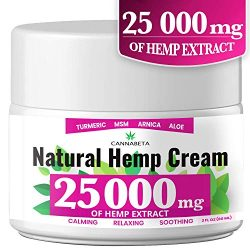 Organic Hemp Pain Reliever, 25 000 Mg, Non-GMO, Natural Hemp Extract for Joint, Muscle, Back, Neck, Knee Pain, Made in USA