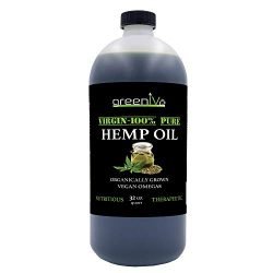 GreenIVe – Hemp Oil 910,000mg – Anti-Inflammatory – Vegan Omegas – Cold Pressed – Exclusively on Amazon (32 Ounce)