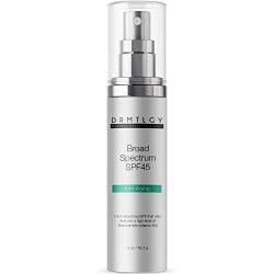 DRMTLGY Anti Aging Clear Face Sunscreen and Facial Moisturizer with Broad Spectrum SPF 45. Oil Free, Zinc Oxide Sunscreen For Sensitive Skin and Acne Prone Skin.