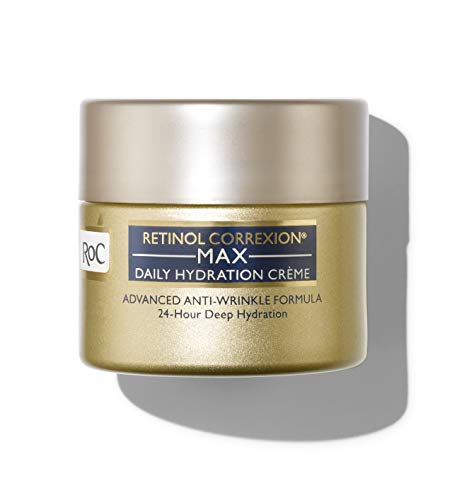 RoC Retinol Correxion Max Daily Hydration Anti-Aging Crème for 24-Hour Deep Hydration, Advanced Anti-Wrinkle Moisturizer Made with Retinol & Hyaluronic Acid, 1.7 oz