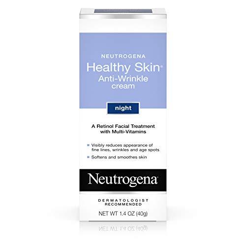 Neutrogena Healthy Skin Anti Wrinkle Retinol Cream with Vitamin E and Vitamin B5 – Night Moisturizer with Retinol, Vitamin E, Vitamin B5, Glycerin, 1.4 oz