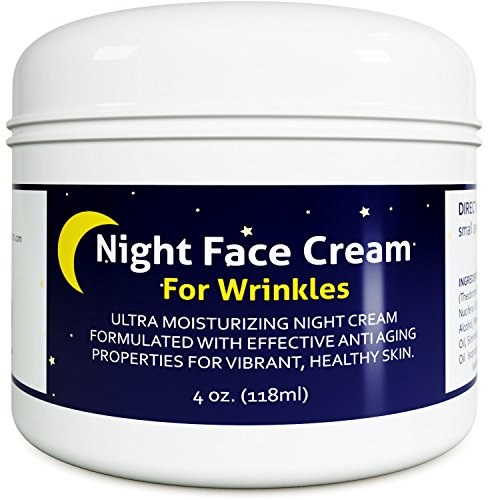 Anti Aging Night Cream Moisturizer for Dry Skin – Firming Cream For Women & Men – Best Anti Wrinkle Cream for Sensitive Skin – Collagen Booster – All Natural Skin Care with Antioxidants & Shea Butter