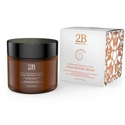 REVOLUTIONARY Anti Aging Intensive Moisturizer Cream with 92% Natural Korean Snail Mucin – 2.53 oz (75 grams)