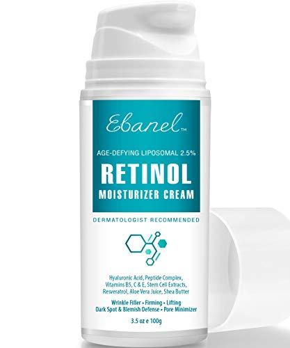 Retinol Cream 2.5% – 3.5 Oz, Anti Aging Face Cream with Hyaluronic Acid, Peptides, Vitamin C, E, B5, Aloe Vera, Shea Butter, Retinol Face Moisturizer Night Cream Anti Aging Cream Anti Wrinkle Cream
