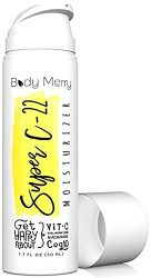 Body Merry Face Moisturizer Cream – Anti-Aging Lotion for Wrinkles, Lines, Acne & Dark Spots w 22% Vitamin C, Hyaluronic Acid, Niacinamide, CoQ10