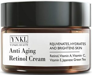 Retinol Cream – Anti Aging Cream for Eye area, Face and Neck – Made in USA – with Japanese Green Tea and Vitamin E – visibly diminish Fine Lines, Wrinkles and improve uneven Skin Tone