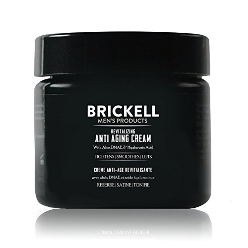 Brickell Men's Revitalizing Anti-Aging Cream For Men, Natural and Organic Anti Wrinkle Night Face Cream To Reduce Fine Lines and Wrinkles, 2 Ounce, Unscented