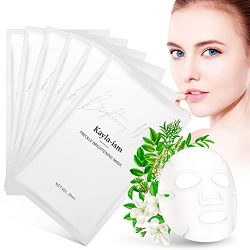 Kayla-Ism Facial Mask   Repairing Skin in 28 days   Collagen Mask Sheet with Jasmine essence  Long last Moisturizing Face Mask   Anti Aging Brightening Face Sheet Mask   Natural Face Mask Pack
