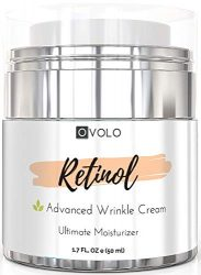 OVOLO Moisturizer Cream with Retinol for Face and Eye Area – BEST NEW 2019 Skin Care Option Formulated with Premium Ingredients (USA Made) – Anti Aging Rapid Wrinkle Repair Cream for Day and Night