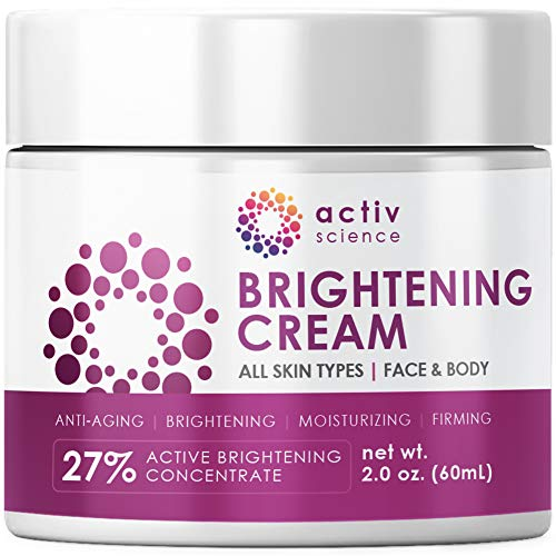 ACTIVSCIENCE Whitening Cream – Powerful Skin Lightening Cream for Face & Body. Dark Spot, Melasma & Hyperpigmentation Treatment. 2 fl oz.