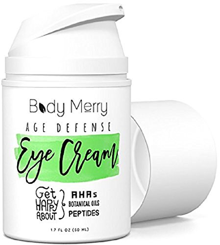 Body Merry Age Defense Eye Cream Natural & Organic Anti-Aging Lotion for Dark Circles, Wrinkles, Puffiness, Crow's Feet, Fine Lines & Bags – 1.7 oz