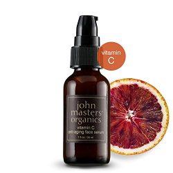 John Masters Organics – Vitamin C Anti-Aging Face Serum – Moisturizer, Anti Wrinkle, Reduce Fine Lines, Repair Dry & Damaged Skin – 1 oz