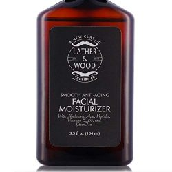 Face Moisturizer for Men – Lather & Wood's Luxurious Sophisticated Mens Moisturizer for the Man's Man. Fragrance-Free Face Cream for Men. (Unscented, 3.5 ounce)