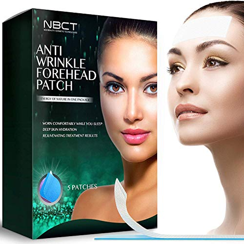 Forehead Anti-Wrinkle Patch | Overnight Smoothing | Lifting & Hydrating Silicone Patches | Antiaging and Antiwrinkle Beauty Mask – 5 strips