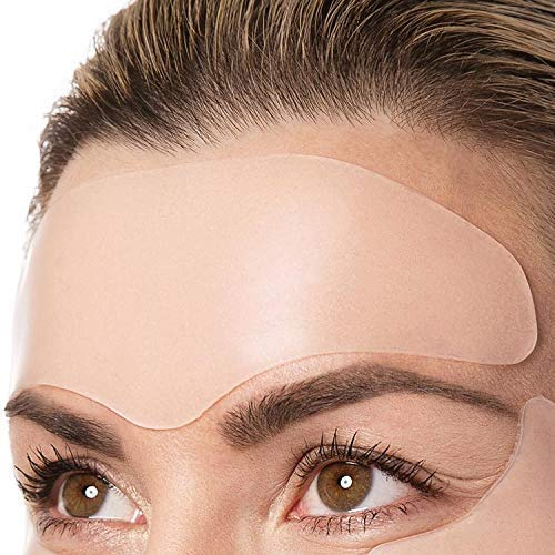 Overnight Lift Brow Lift Forehead Anti- Wrinkle Patch – Reusable Smoothing 100% Silicone Patch Expression Lines Creases Self-Adhesive