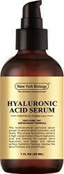 New York Hyaluronic Acid Serum with Vitamins A and C – Professional Strength Anti Aging Face Serum Improves Skin Texture and Moisturizes Skin – 1 oz