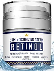 Retinol Cream – Anti Aging Face Cream with Hyaluronic Acid, Vitamin E & B5, Jojoba Oil, Green Tea and Gotu Kola Extract –  Fights Appearance of Wrinkles, Fine Lines – Night and Day Moisturizer