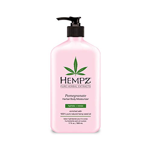 Hempz Pomegranate Herbal Body Moisturizer 17 oz. – Paraben-Free Lotion and Moisturizing Cream for All Skin Types, Anti-Aging Hemp Skin Care Products for Women and Men – Hydrating Gluten-Free Lotions