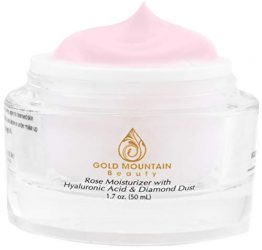 Anti Aging Face Cream Moisturizer – with Rose Scent, Hyaluronic Acid and Diamond Dust, Anti-Aging Anti-Wrinkle Night Cream for Woman and Men, Skin Care