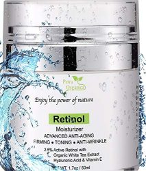 Retinol Moisturizer for Face and Eye Area – Wrinkle Cream for Women – Retinol Night Cream with Retinol, Hyaluronic Acid, Shea butter and Vitamin E – 1.7oz / 50m