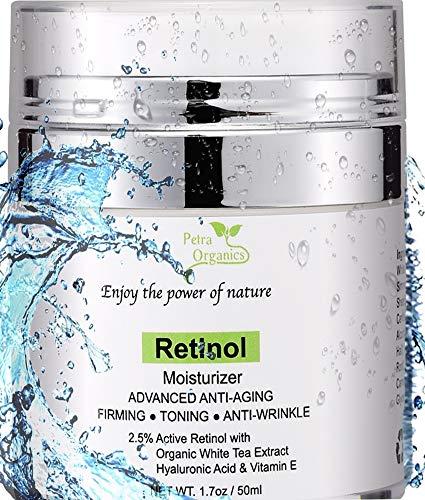 Retinol Moisturizer for Face and Eye Area – Wrinkle Cream for Women – Retinol Night Cream with Retinol, Hyaluronic Acid, Shea butter and Vitamin E – 1.7oz / 50m