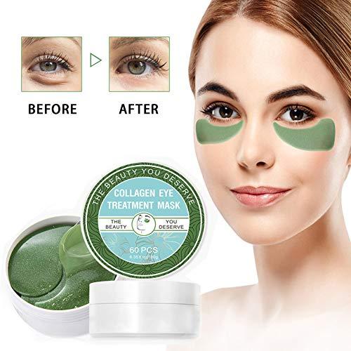 Chlorella Anti-Aging Collagen Eye Treatment Mask Eye Pads,Effectively Remove Fine Lines Eliminate Edema Eye Bag Reduce Dark Circles,Deeply Hydrating Eye Skin(30 Pairs/60 Pcs)
