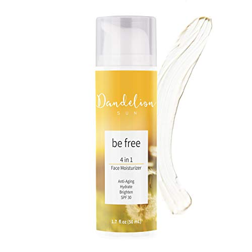 Dandelion Sun, Anti-Aging Face Moisturizer with Broad Spectrum SPF 30, Facial Sunscreen, Antioxidant-Rich Complex with Vitamin C and E, Botanical Extract, Squalane, 1.7 fl oz