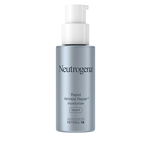 Neutrogena Rapid Wrinkle Repair Accelerated Hyaluronic Acid Retinol Night Cream Face Moisturizer, Anti Wrinkle Face Cream & Neck Cream with Hyaluronic Acid, Retinol & Glycerin, 1 fl. oz
