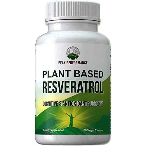 Resveratrol 500mg – Best Plant Based Resveratrol Supplement by Peak Performance. Made in USA. Capsules Rich in Polyphenols from Natural Plant Extracts. 2 Pills Equals 1000mg. Reservatrol Supplement