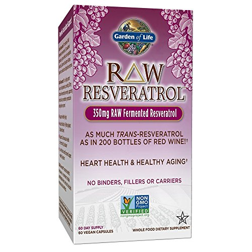 Garden of Life Heart Resveratrol Supplement – Raw Whole Food Antioxidant Formula for Heart Health, 60 Capsules